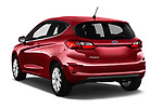 Car pictures of rear three quarter view of a 2017 Ford Fiesta Titanium 3 Door Hatchback angular rear