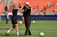 Houston, TX - Sunday Oct. 09, 2016: Makenzy Doniak, Demeris Johnson prior to a National Women's Soccer League (NWSL) Championship match between the Washington Spirit and the Western New York Flash at BBVA Compass Stadium.