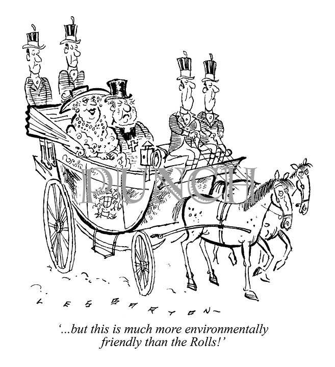 '...but this is much more environmentally friendly than the Rolls!'
