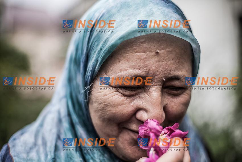 07.06.2013, Potocari ( Srebrenica ) Bosnia Herzegovina<br /> Memorial Center. <br /> Fazila Efendic, e' una donna sopravvissuta al massacro di Srebrenica dove furono uccisi tra gli altri il figlio e il marito. Gestisce un chiosco di fronte al memorial center. E' una dei membri dell'associazione &quot;Madri di Sebrenica&quot;.<br /> L'esercito Serbo, comandato da Ratko Mladic, nel 1995 ha massacrato a Srebrenica circa 8.000 tra uomini e ragazzi Musulmani, la piu' grande atrocita' commessa in Europa dalla seconda guerra mondiale. <br /> Foto Insidefoto / EXPA/ Juergen Feichter