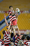Waka Setitaia claims lineout ball. Counties Manukau Steelers vs Bay of Plenty Steamers warm up game played at Mt Smart Stadium on 14th of July 2006. Counties Manukau won 25 - 20.