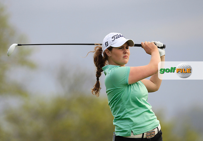 Olivia Mahaffey (RCD Ladies) on the 2nd tee during Round 2 of the Irish Women's Open Strokeplay Championship at Dun Laoghaire Golf Club on Saturday 23rd May 2015.<br /> Picture:  Thos Caffrey / www.golffile.ie