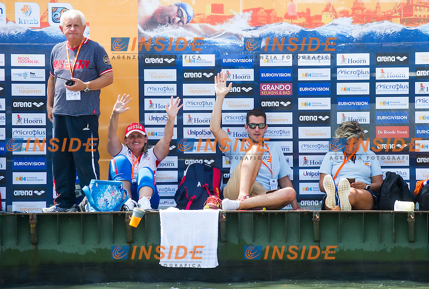 FeedingPontoon<br /> Hoorn, Netherlands <br /> LEN 2016 European Open Water Swimming Championships <br /> Open Water Swimming<br /> Men's 10km<br /> Day 01 10-07-2016<br /> Photo Giorgio Perottino/Deepbluemedia/Insidefoto