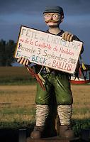 Europe/France/Nord-Pas-de-Calais/59/Nord/Bailleul : Détail personnage annonçant une fête du houblon