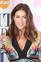 Lisa Snowdon arriving at The Brit Awards 2015 (Brits) held at the O2 - Arrivals, London. 25/02/2015 Picture by: James Smith / Featureflash