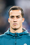 Lucas Vazquez of Real Madrid getting into the field during the Europe Champions League 2017-18 match between Real Madrid and Borussia Dortmund at Santiago Bernabeu Stadium on 06 December 2017 in Madrid Spain. Photo by Diego Gonzalez / Power Sport Images