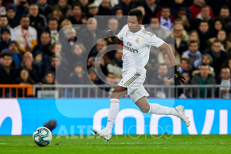 Rodrygo Goes of Real Madrid during La Liga match between Real Madrid and Real Sociedad at Santiago Bernabeu Stadium in Madrid, Spain. November 23, 2019. (ALTERPHOTOS/A. Perez Meca)