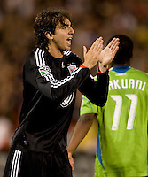 Dejan Jakovic. The Seattle Sounders defeated DC United, 2-1, to win the 2009 Lamr Hunt U.S. Open Cup at RFK Stadium in Washington, DC.
