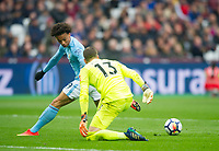 Manchester City Leroy Sane during the EPL - Premier League match between West Ham United and Manchester City at the Olympic Park, London, England on 29 April 2018. Photo by Andrew Aleksiejczuk / PRiME Media Images.