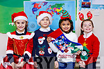 Looking very festive at the CBS National School Christmas Play on Monday morning last were l-r: Arbiona Lamnica, Deividas Gedminas, Zainab Muhgal and Brooke Falvey Colbert.