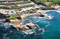 Aerial Photo of Corona Del Mar Real Estate off the Coast of Newport Beach