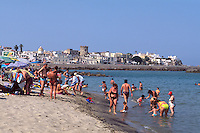 Italien, Ischia, Spiaggia di Chiaia bei Forio....