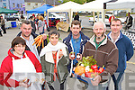 Dragon's Den star Kate Carmody and traders officially opens the new Farmers Market at the Forge Castleisland on Thursday morning l-r: Mary Glynn, Joe Ferriter, Kate Carmody, Billy Walsh, Tomas O'Connor and Michael Gleeson....