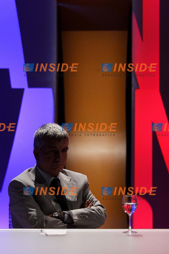Nichi Vendola .Roma 07/10/2012 LA7. Il Presidente della regione Puglia ospite della trasmissione 'In onda'..Photo Ernst