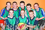 Team Ballydonoghue: Taking part in the Shannonside Youth club basketball .tournament at the Ballybunion Community Centre on Friday evening were front .l-r Chris Kissane, Deirdre McCarthy and Diarmuid Behan. Back l-r Norma O'Sullivan, Eric O'Connor, Sean O'Connor, Billy Joy and Brenda Foley.   Copyright Kerry's Eye 2008
