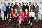 (1st row) Emma Thorne, Amanda Lea Mason, Patricia Clarkson, Kathryn Meisle and Marguerite Stimpson (2nd row) Eric Clem, Peter Bradbury, Anthony Heald, Bradley Cooper, Scott Ellis, Alessandro Nivola, Chris Bannow, Lucas Calhoun, Henry Stram and Scott Lowell attends the 'The Elephant Man' Broadway Cast photo call at Sardi's on October 21, 2014 in New York City.