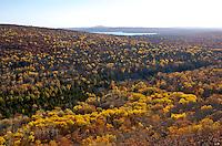 A late fall scene from atop Mt. Bohemia near Copper Harbor, Michigan in the Upper Peninsula.