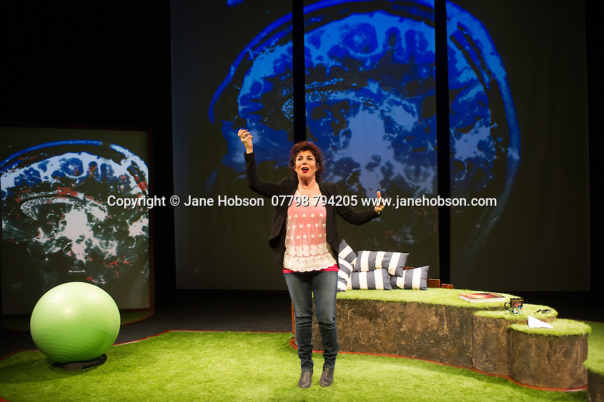 "London, UK. 03.03.2015. Ruby Wax presents her spoken word show ""Sane New World"", at the St James Theatre. Photograph © Jane Hobson."