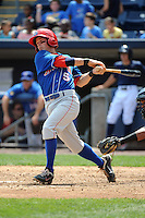 Auburn Doubledays infielder Tony Renda (5) during game against the Staten Island Yankees at Richmond County Bank Ballpark at St.George on August 2, 2012 in Staten Island, NY.  Auburn defeated Staten Island 11-3.  Tomasso DeRosa/Four Seam Images