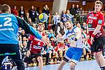 Schmidt, David (TVB 1Stuttgart #77) / Heiny, Lutz (HSG Nordhorn-Lingen #5) / de Boer, Luca (HSG Nordhorn-Lingen #19) / TVB 1898 Stuttgart - HSG Nordhorn Lingen / HBL / LIQUI MOLY 1.Handball-BundesligaSCHARRena / Stuttgart Baden-Wuerttemberg / Deutschland <br /> <br /> Foto © PIX-Sportfotos *** Foto ist honorarpflichtig! *** Auf Anfrage in hoeherer Qualitaet/Aufloesung. Belegexemplar erbeten. Veroeffentlichung ausschliesslich fuer journalistisch-publizistische Zwecke. For editorial use only.