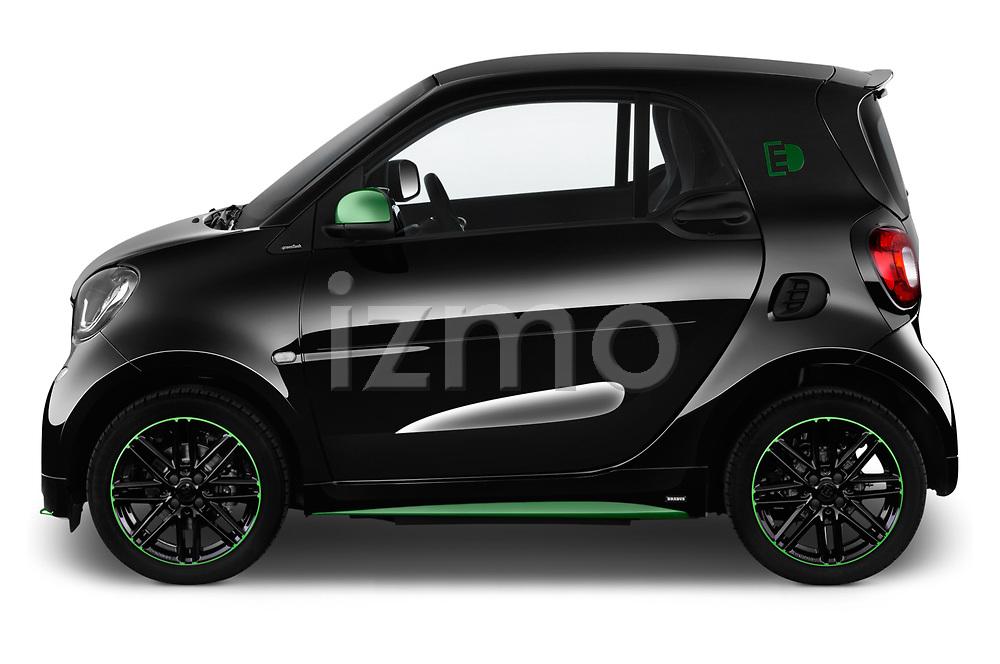 Car driver side profile view of a 2018 Smart fortwo Greenflash 3 Door Hatchback