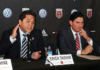 WASHINGTON, DC-JULY 10,2012:  Erick Thohir with Jason Levien during a D.C. United ownership press conference at the POV Lounge in the W Hotel, Washington, DC.