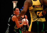 17.1.2014 New Zealand's Jodi Brown in action against Jamaica during their netball test match in London, England. Mandatory Photo Credit (Pic: Tim Hales). ©Michael Bradley Photography.