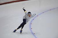 SCHAATSEN: HEERENVEEN: Thialf, 4th Masters International Speed Skating Sprint Games, 25-02-2012, John Diemont (M60) 1st, ©foto: Martin de Jong