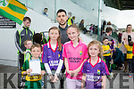 l-r  Aoife O'Connell, Aishling O'Connell, Elisha Cronin, Sean Cronin with   Michael Geaney  at the Kerry GAA Night of Champions at the Kingdom Greyhound Stadium on Friday
