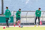 12.03.2020, Trainingsgelaende am wohninvest WESERSTADION,, Bremen, GER, 1.FBL, Werder Bremen Training, im Bild<br /> <br /> Milot Rashica (Werder Bremen #07)<br /> Sebastian Langkamp (Werder Bremen #15)<br /> Davie Selke (Neuzugang SV Werder Bremen #09)<br /> <br /> Foto © nordphoto / Kokenge
