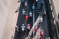 peloton rolling out of Kuurne<br /> <br /> 70th Kuurne-Brussel-Kuurne 2018<br /> Kuurne &rsaquo; Kuurne: 200km (BELGIUM)