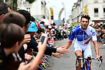 FDJ rider at sign on before the start of Stage 10 of the 104th edition of the Tour de France 2017, running 178km from Perigueux to Bergerac, France. 11th July 2017.<br /> Picture: ASO/Alex Broadway | Cyclefile<br /> <br /> <br /> All photos usage must carry mandatory copyright credit (&copy; Cyclefile | ASO/Alex Broadway)