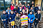 Students from, Scoil Eoin, Balloonagh, Tralee, pictured on Friday last, who are taking part in a PBL (Project Based Learning class) with Mrs Veronica Donovan and  Mr John Hickey, the class are taking part in a tour of each street in Tralee, this week the group studied Ashe Street and presented the positive and negative aspects of the street and finding ways to improve the negative side of it.