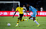 Borussia Dortmund striker Ousmane Dembele (l) plays against Manchester City Tosin Adarabioyo (r) during the match between Manchester City FC during their 2016 International Champions Cup China match at the Shenzhen Stadium on 28 July 2016 in Shenzhen, China. Photo by Marcio Machado / Power Sport Images