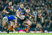 Picture by Allan McKenzie/SWpix.com - 23/03/2018 - Rugby League - Betfred Super League - Leeds Rhinos v Castleford Tigers - Elland Road, Leeds, England - James Green is tackled.