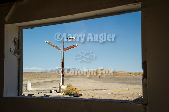 Abandoned roadhouse and gas station at the U.S. Highways 6 and 95 Junction, Coaldal, Nevada