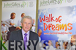 LAUNCH: John Giles one of Ireland's greatest soccer players launching the Kerry Walk of Dreams in aid of the John Giles Foundation at the KDL headquarters, Mounthawk park on Monday.