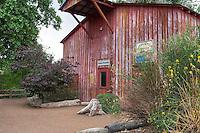 Old red barn at the Heritage Farm of Rio Grande Botanic Garden