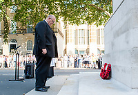 Picture by Allan McKenzie/SWpix.com - 25/08/2017 - Rugby League - Commemorative wreath laying ceremony - The Cenotaph, London, England - The RFL's Chief Executive Nigel Wood lays a wreath at the Cenotaph.
