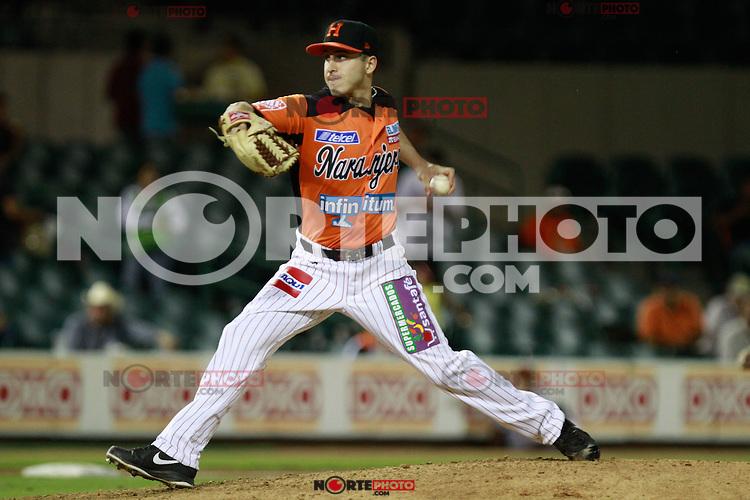 Ryan Verdugo ,pitcher de naranjeros , durante el juego de beisbol de Naranjeros vs Ca&ntilde;eros durante la primera serie de la Liga Mexicana del Pacifico.<br /> 15 octubre 2013
