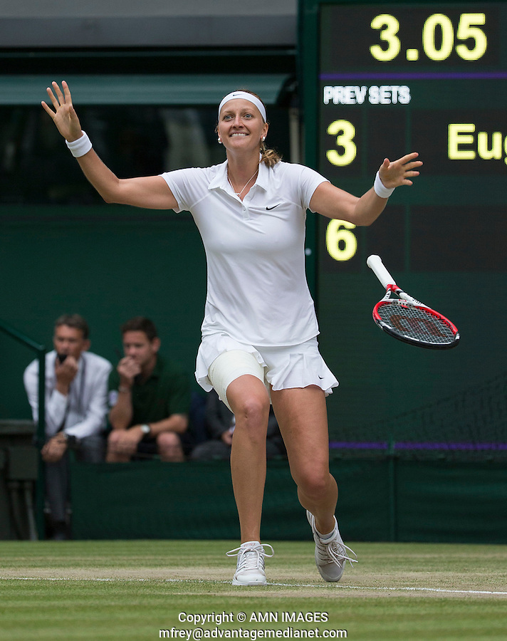PETRA KVITOVA (CZE)<br /> <br /> The Championships Wimbledon 2014 - The All England Lawn Tennis Club -  London - UK -  ATP - ITF - WTA-2014  - Grand Slam - Great Britain -  5th July  2014. <br /> <br /> &copy; AMN IMAGES