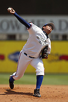 Felix Hernandez of the Inland Empire 66'ers pitches in a California League game at San Manuel Stadium during the 2004 season in San Bernardino, California. (Larry Goren/Four Seam Images)