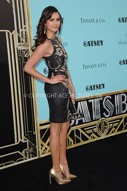WWW.ACEPIXS.COM . . . . . .May 1, 2013...New York City...Nina Dobrev attends the 'The Great Gatsby' world premiere at Avery Fisher Hall at Lincoln Center for the Performing Arts on May 1, 2013 in New York City ....Please byline: KRISTIN CALLAHAN - ACEPIXS.COM.. . . . . . ..Ace Pictures, Inc: ..tel: (212) 243 8787 or (646) 769 0430..e-mail: info@acepixs.com..web: http://www.acepixs.com .