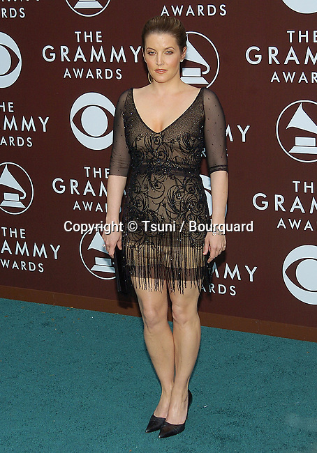 Lisa Marie Presley arriving at the 47th Annual Grammy Awards at the Staples Center in Los Angeles. February 13, 2005.