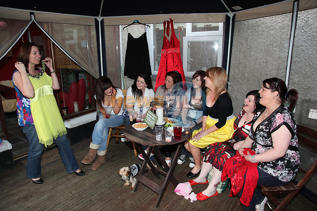 the Clothes swap party in Angie Carrolls home in Drogheda..Pic: Fran Caffrey/www.newsfile.ie