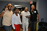 MIAMI, FL - MAY 29: Abebe Lewis, Lil Duval, Steve Brown and Chad Thomas backstage at the 9th Annual Memorial Weekend Comedy Festival at James L Knight Center on May 29, 2016 in Miami, Florida. ( Photo by Johnny Louis / jlnphotography.com )
