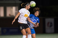 Allston, MA - Saturday Sept. 24, 2016: Abby Erceg, Angela Salem during a regular season National Women's Soccer League (NWSL) match between the Boston Breakers and the Western New York Flash at Jordan Field.