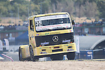 Spanish driver Enrique Alberto Mila Monteserin belonging Spanish team Enrique Alberto Mila Monteserin during the fist race R1 of the XXX Spain GP Camion of the FIA European Truck Racing Championship 2016 in Madrid. October 01, 2016. (ALTERPHOTOS/Rodrigo Jimenez)