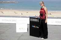 "Director Jasmila Zbanic posses in the photocall of the ""For those who can tell no lies"" film presentation during the 61 San Sebastian Film Festival, in San Sebastian, Spain. September 26, 2013. (ALTERPHOTOS/Victor Blanco) <br /> San Sebastian Film Festival <br /> Foto Insidefoto"
