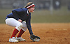 Annie Zielinski #22 of MacArthur plays shortstop in cold weather during a non-league varsity softball game against Massapequa at MacArthur High School on Tuesday, March 20, 2018. MacArthur won by a score of 3-0.